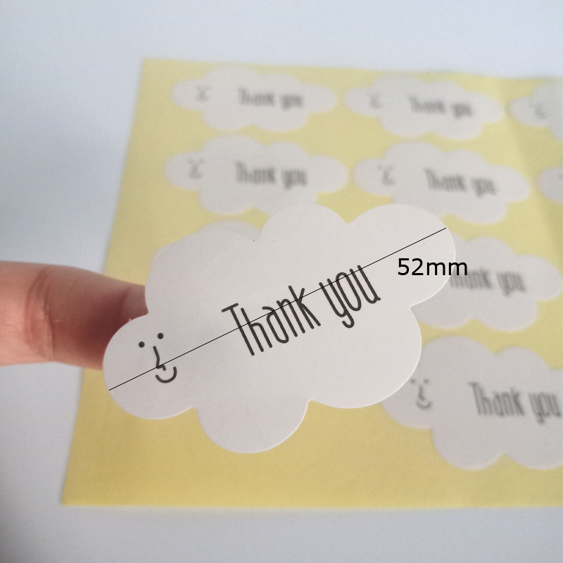 160pcs lot White Cloud Paper Adhesive DIY Sealing Label Gift Tags Seal Sticker Decorative Gifts Packing Tag in Stationery Stickers from Office School Supplies