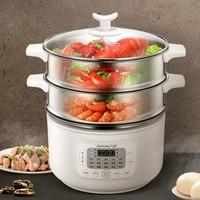 Vaporera de alimentos para el hogar 10L  vaporera de alimentos eléctrica de reserva inteligente de preservación de calor  vaporera de alimentos automática Vaporeras eléctricas     -