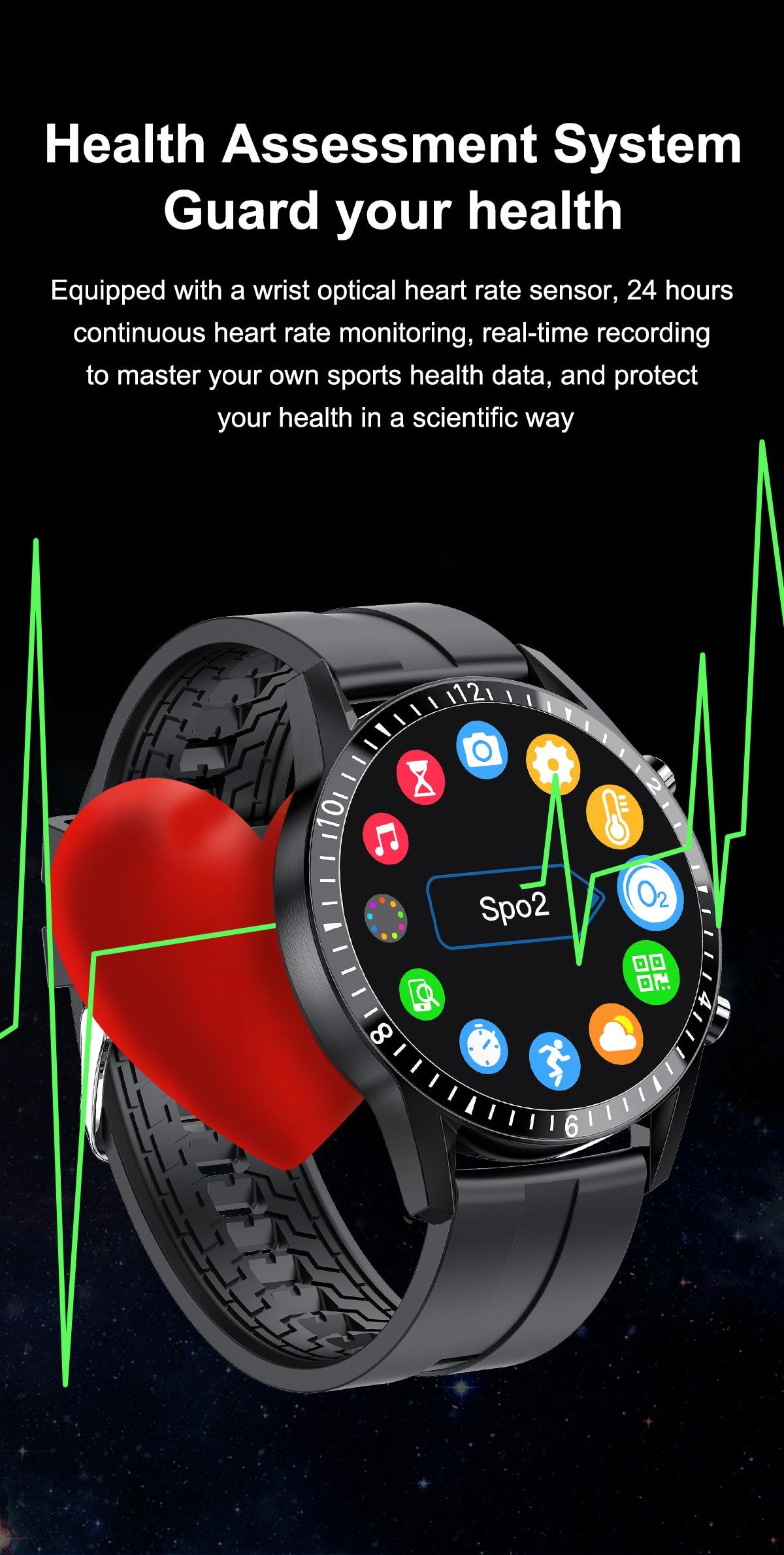 Lige relógio inteligente telefone tela de toque