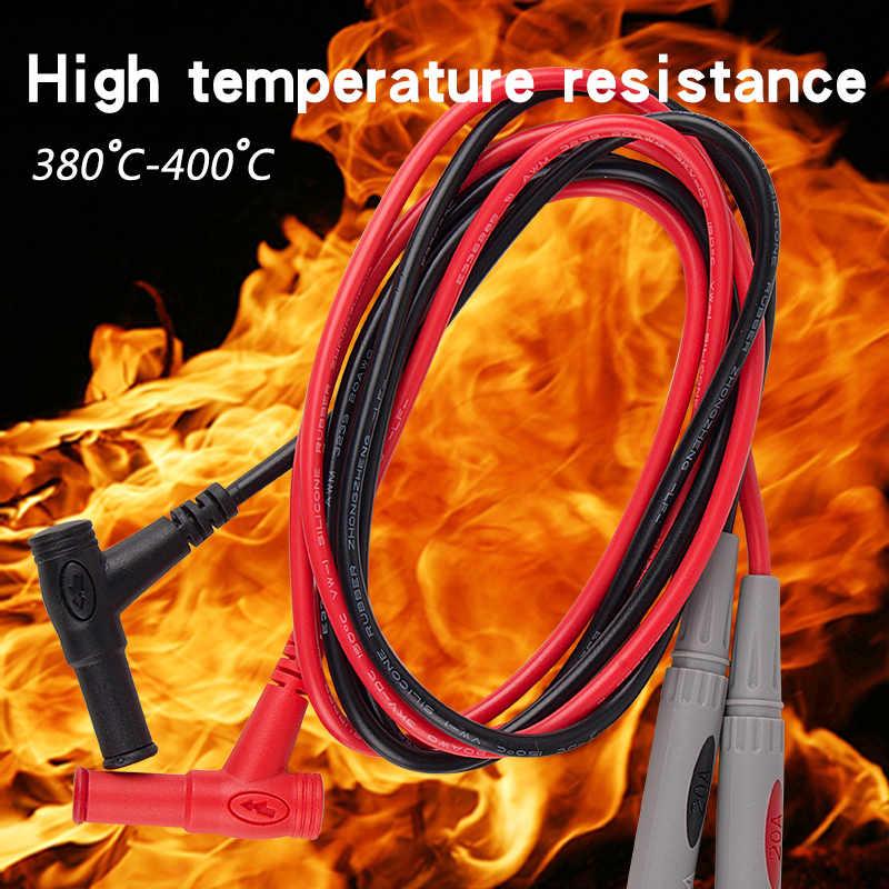 10 Pair Universale Del Silicone di Sonde per il Tester Ago Punta Tester Multi Meter Tester Piombo Sonda Wire Pen Cavo 1000V 20A