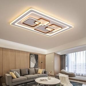 Image 2 - Remote control Surface Mounted Modern Led Ceiling Lights lamparas de techo Rectangle acrylic led Ceiling lights lamp fixtures
