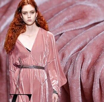 Silk velvet charming color jam powder mulberry silk cloth dress dress dress dress clothing fabrics dress galvanni dress