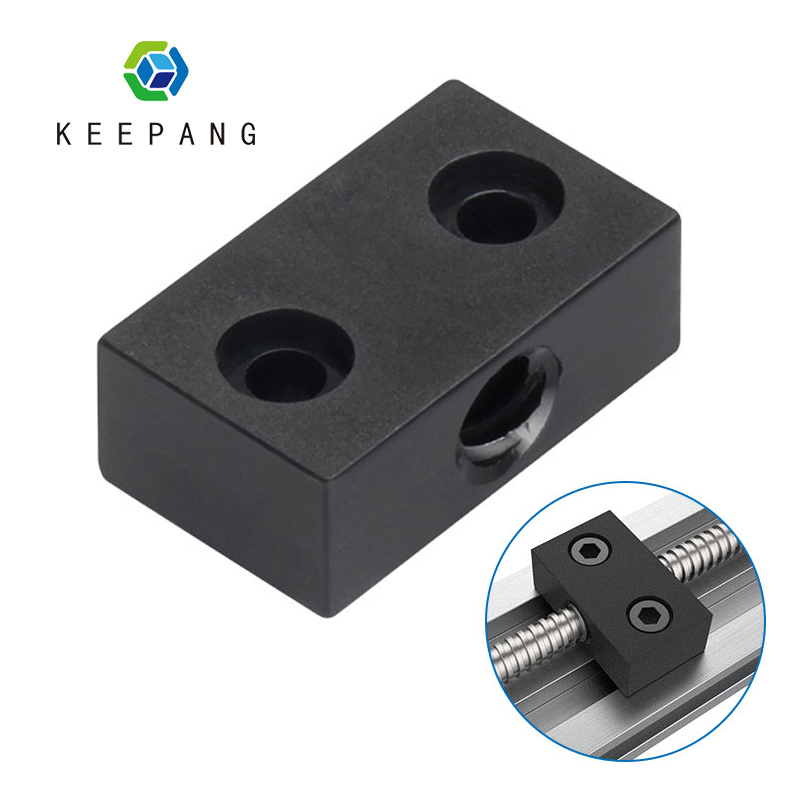 3D Printer Nut Support Trapezoid T8 Lead Screw Nut Seat Support Lead 8mm Pitch 2mm For Ender 3 CR10
