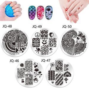 Image 2 - 爪プレートデザイン 10 個ネイルスタンププレートポーランドステンシル爪テンプレートケースクリアスクレーパースタンパーネイルアートセットキット