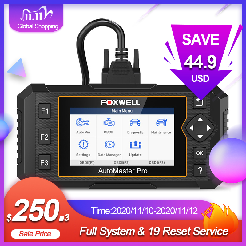 Foxwell NT644 Elite Professional OBD 2 Diagnostic Car Scanner Tool Full System Scan 19 Reset Service OBD2 Automotive Scanner