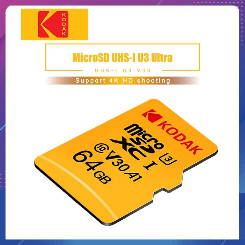 Kodak tarjeta de memoria 256GB 128 GB 64 GB U3 tarjeta Micro sd de 32 GB Class10 UHS-1 tarjeta flash de memoria Microsd tarjetas TF/SD para tableta de 512 gb