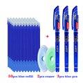 55 teile/los Waschbar Griff Löschbaren Pen-Set 0,5mm Magie Earasable Minen Stangen Büro Schule Schriftlich Lieferungen Studenten Schreibwaren