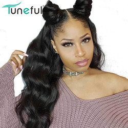 13x6 And 360 Lace Front Frontal Human Hair Wigs Body Wave Tuneful Pre Plucked 8-26 Inch 150% Peruvian Remy Hair Lace Wig