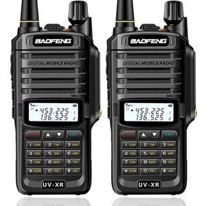 Image 1 - 2 قطعة Baofeng UV XR 10 واط عالية الطاقة IP67 مقاوم للماء اتجاهين راديو ثنائي النطاق جهاز لاسلكي محمول للصيد التنزه تمطر