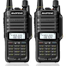 2 adet Baofeng UV XR 10W yüksek güç IP67 su geçirmez iki yönlü radyo Dual Band el telsizi avcılık yürüyüş için yağmur
