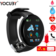 Smart Watch Men D18 Heart Rate Monitor Blood Pressure Smartw