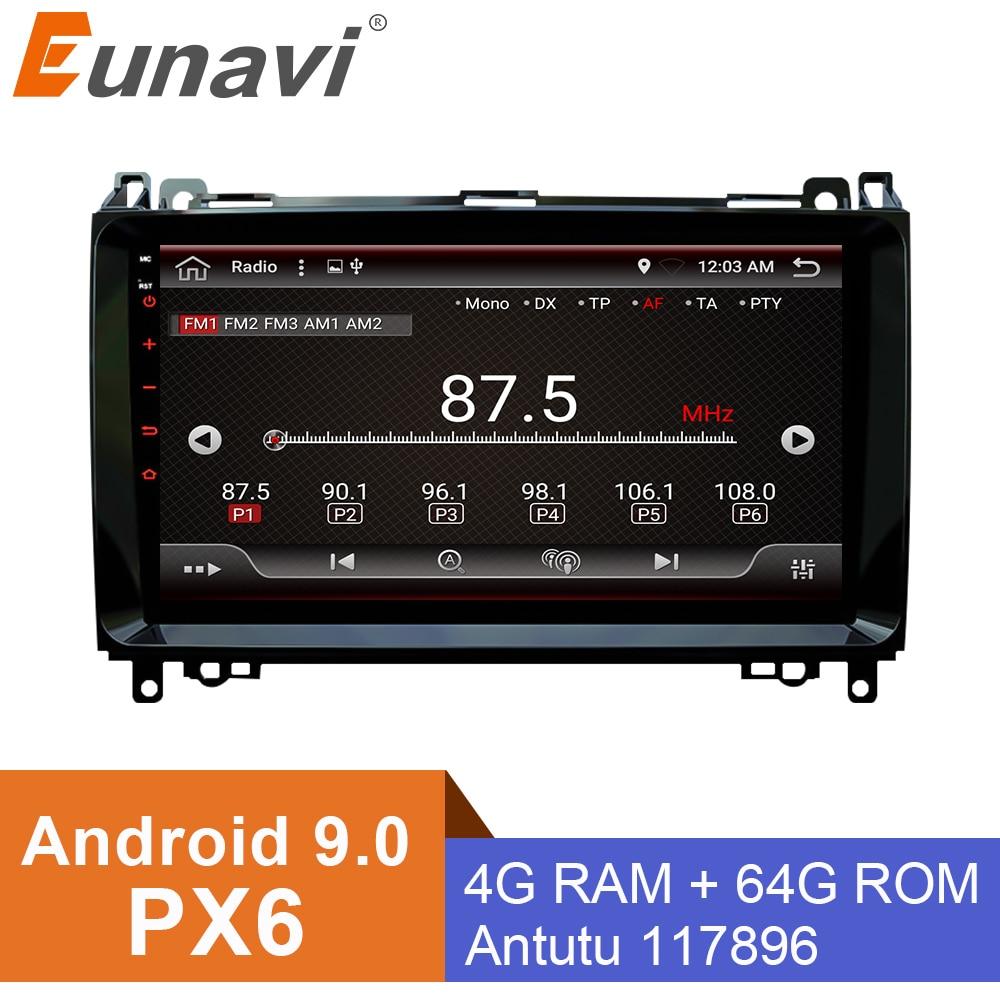 Autoradio Android 9 pour 2 Din Mercedes/Benz/Sprinter/Viano/Vito/classe B/B200/B180 lecteur vidéo multimédia de voiture GPS 4G + 64G PX6