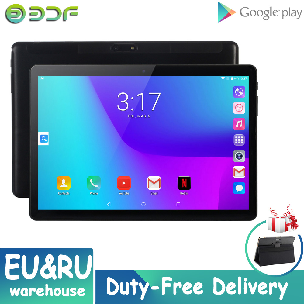 New Tab 10 Inch Dual Sim Card Mobile 3G Phone Call Android 7.0 Tablet Pc 32GB ROM Quad Core Tablets Google Play GPS CE Brand