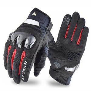 Image 5 - VEMAR Neue Atmungsaktive Motorrad handschuhe racing handschuhe Touch Screen anti herbst Motorrad outdoor Radfahren Sport Sommer Handschuhe