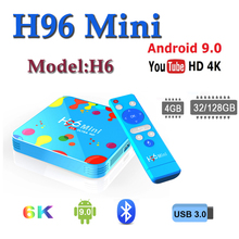 H96 pro set top boxes H96 mini H6 TV Box Android Quad Core 4G 128G 6K Smart TV Box 2.4G/5G WIFI Bluetooth Media Player Youtube стоимость
