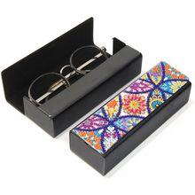 DIY Diamond Painting Eye Glasses Storage Box Travel Leather Sunglasses Case Special Shaped Diamond Storarage Box недорого
