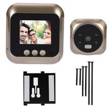 Timbre de puerta inteligente con pantalla HD de 2,4 pulgadas, cámara de seguridad electrónica, mirilla