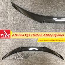 цена на F32 M4-Style Carbon Fiber Rear Wing Lip Spoiler For BMW 4 Series 420i 425i 430i 2-Door Hard top Sedan Trunk Spoiler Wing 2014-18