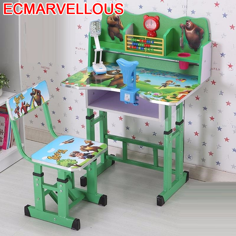 Children Desk Tavolino For Chair And Escritorio Infantil Tavolo Bambini Baby Adjustable Bureau Enfant Kinder Kids Study Table