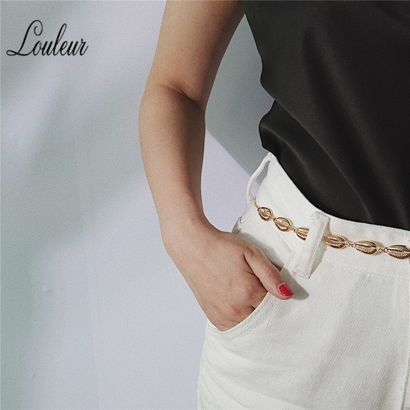 Women Louleur Shell Beach Waist Body Chain Belt Waistband Clothes Decoration Jewelry Body Simple Waist Chain