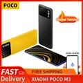 POCO M3 глобальная версия 4 Гб + 64 Гб Смартфон xiaomi Snapdragon 662 Восьмиядерный 6,53