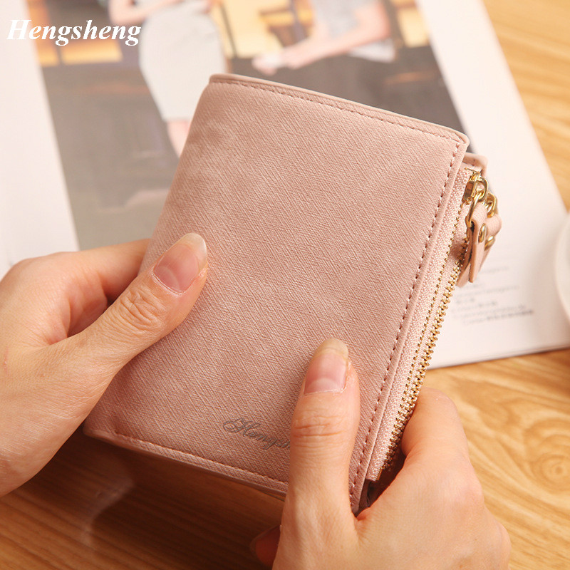 Women Wallets Fashion Top Quality Small Wallet PU Matte Leather Purse Short Female Coin Zipper Clutch Coin Purse Credit Card