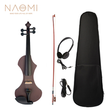 Hand-Carved Violin Headphone Brazilwood NAOMI Full-Size with Octagonal Bow Audio-Cable