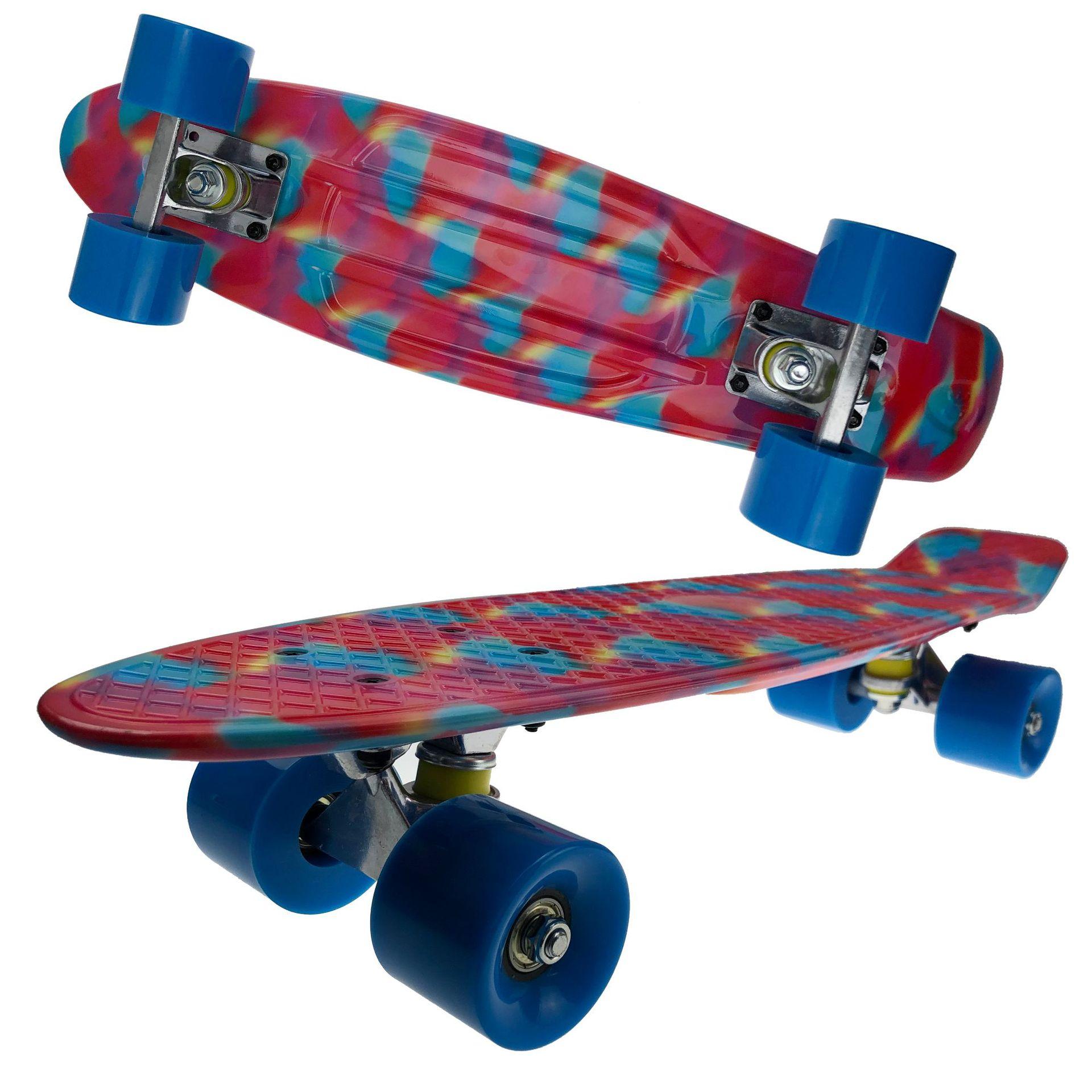 Nouveau Style quatre roues Skateboard Scooter Double face transfert d'eau enfants cadeau poisson Skateboard fabricants en gros