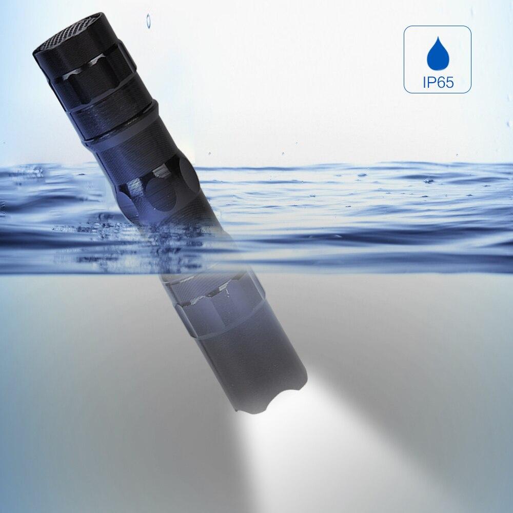 BRELONG haute puissance Mini lampe de poche LED étanche porte-clés porter en plein air Camping lampe de poche tactique lumière