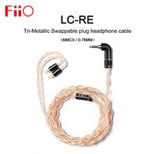 FiiO LC RE LC RE tri metaliczny wymienialny kabel słuchawek wtykowych MMCX/0.78mm, zawiera 3 wtyczki 3.5SE 2.5 zrównoważony 4.4 zrównoważony, dla FH7