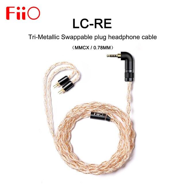 FiiO LC RE LC RE ثلاثي معدني قابلة للتبديل التوصيل سماعة كابل MMCX/0.78 مللي متر ، وتشمل 3 المقابس 3.5SE 2.5 متوازن 4.4 ، ل FH7