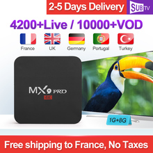 IPTV France Arabic 1 Year SUBTV Italy Canada French MX9Pro Android 8.1 1G+8G Italian IP TV Box