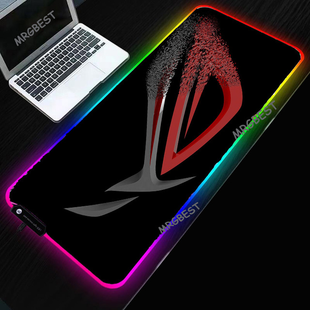 MRGBEST Republic of Gamers Mouse Pad LED RGB  Gaming Accessories Desktop Pads Smooth Durable Professional Colorful Mice Mat 1