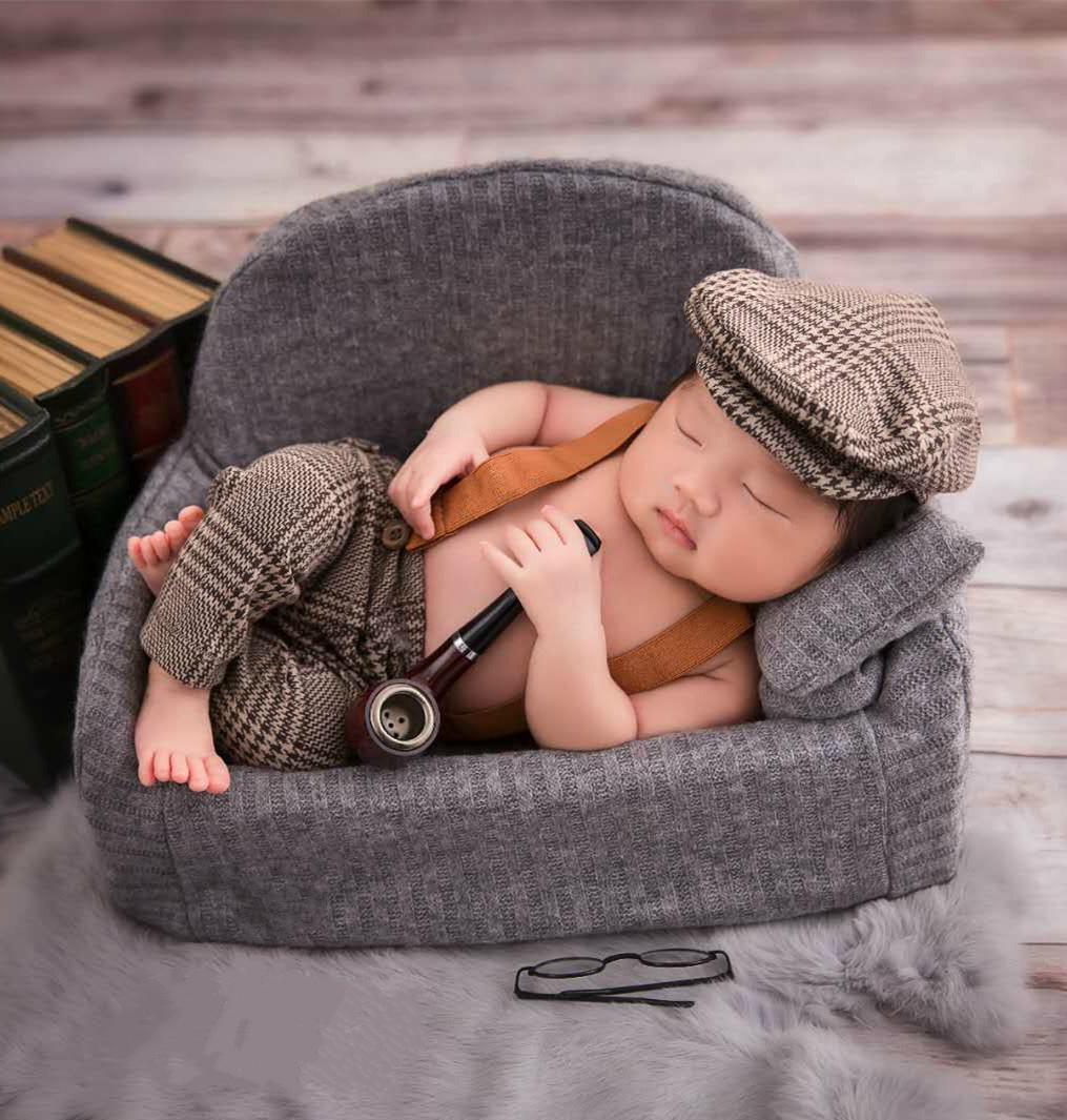 Newborn Baby Sofa Full-moon Photography Prop Mini Creative Posing Sofa Infant Shooting Accessories Various Colors