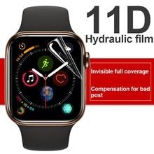 11dscreen protetor claro película protetora completa para iwatch 4 5 6 se 38mm 42mmnot vidro temperado para apple watch 3 2 1 40mm 44mm