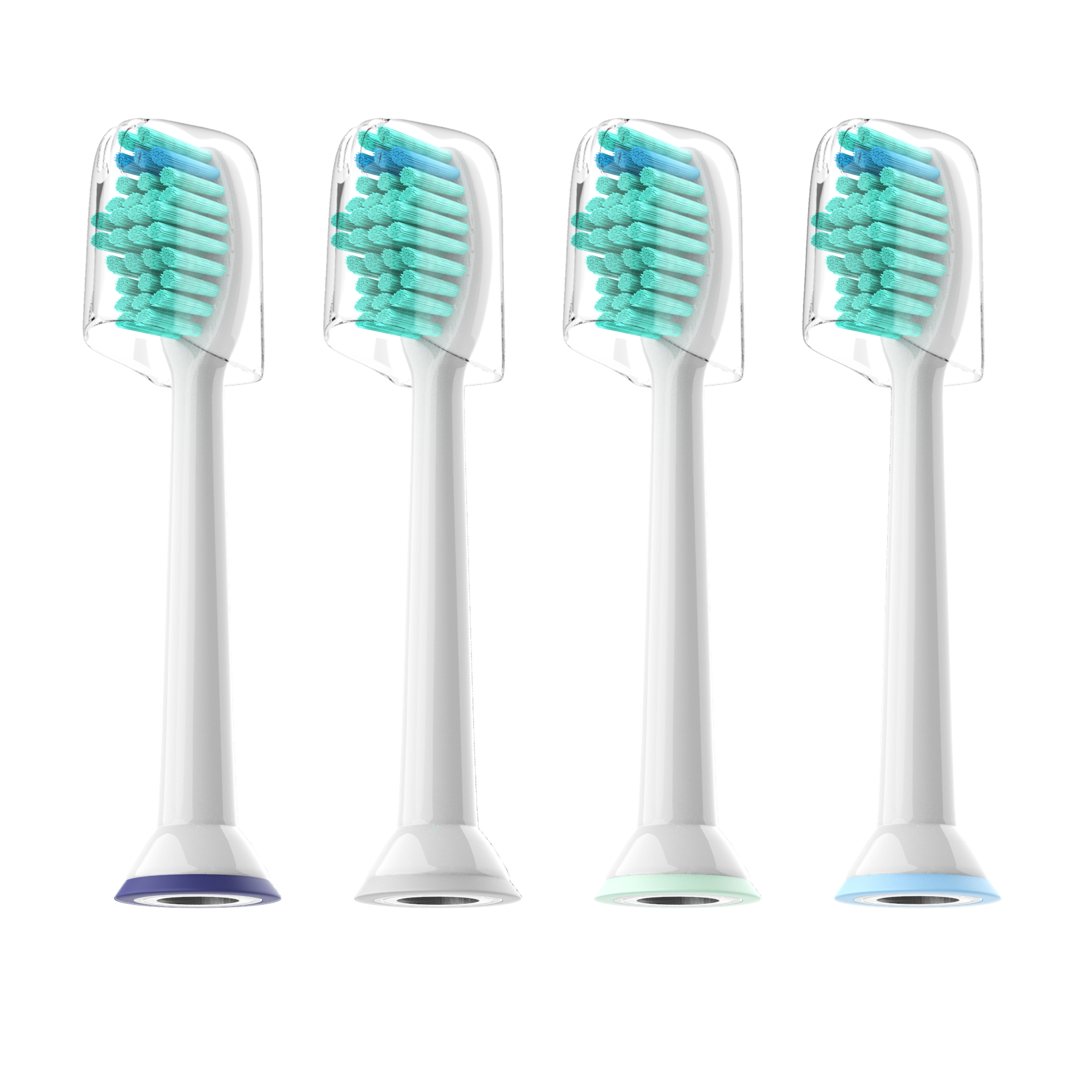 4pcs/lot Replacement Toothbrush Heads With Cap For Philips Sonicare HX6530 HX9340 HX6930 HX6710 HX9140 HX6921 HX6930 HX6932