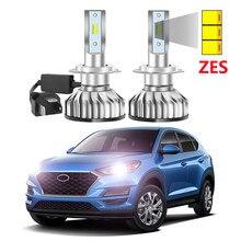 2 pièces Super lumineux voiture Auto phare Led pour Hyundai Tucson 2019 2020 ZES puces feux de croisement phare de voiture LED lumière