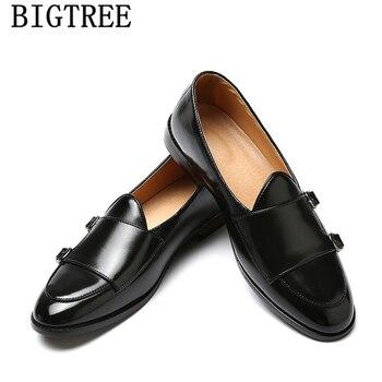 Double Monk Strap Shoes Loafers Men British Mens Formal Coiffeur Wedding Elegant Luxury Brand Erkek Ayakkabi - discount item  52% OFF Men's Shoes