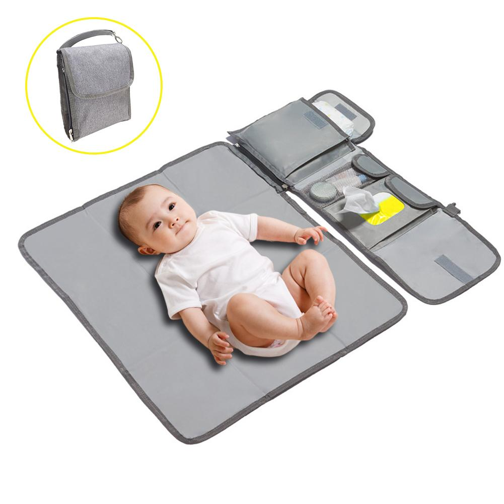 Waterproof Changing Pad Diaper Travel Multifunction Portable Baby Diaper Cover Mat Clean Hand Folding Diaper Bag