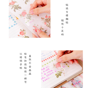 Image 5 - 20pack/lot Small fresh Flowers series Decorative Sticker for Diary Album Label DIY Scrapbooking Stickers Stationery