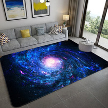 Большие ковры в скандинавском стиле с 3D принтом, коврик для Галактики, мягкие фланелевые коврики, Противоскользящий коврик для гостиной, до...