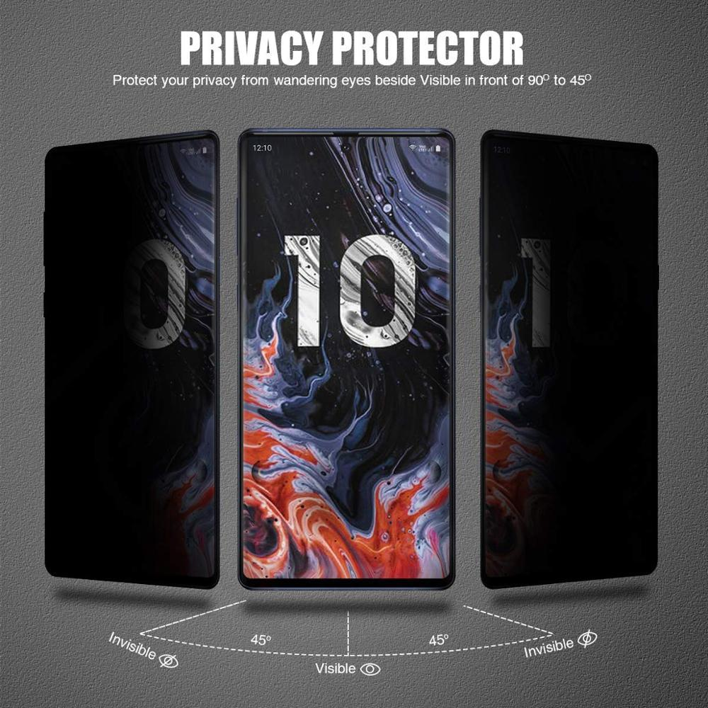 9H 3D Full Cover Privacy Tempered Glass For SAMSUNG Galaxy Note 8 9 10 Pro S8 S9 S10 Plus Anti Glare Screen Protector Film Glass