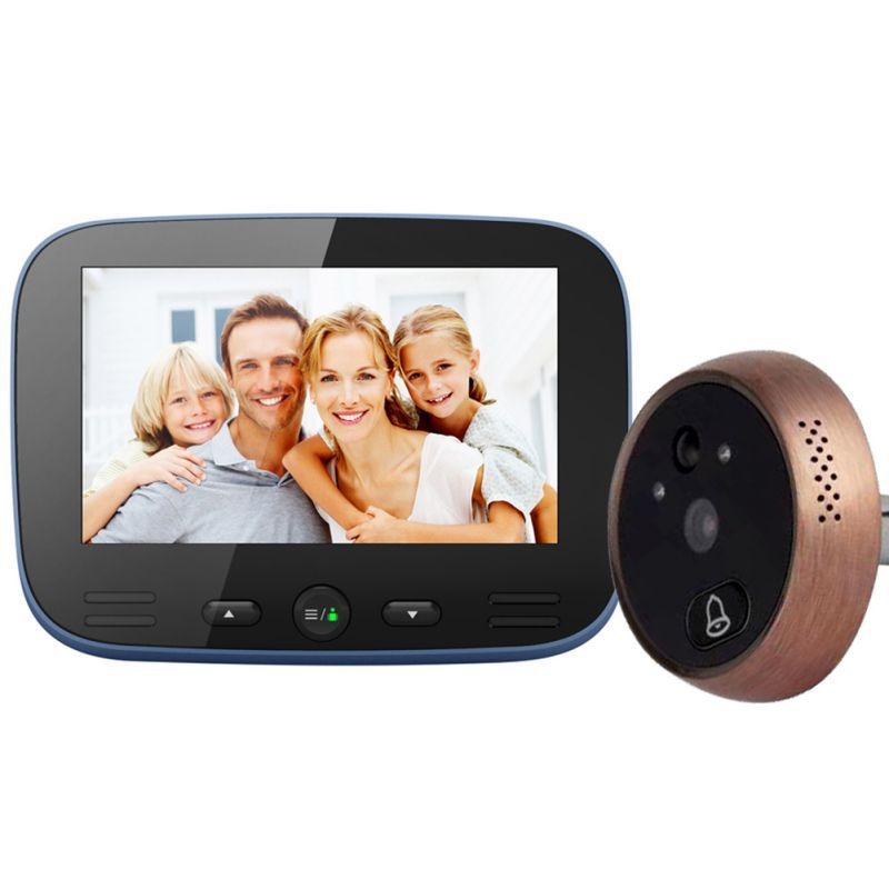 New Digital Door Viewer Night Vision Motion Detection Music Bell Ring Video Photo Peephole Camera