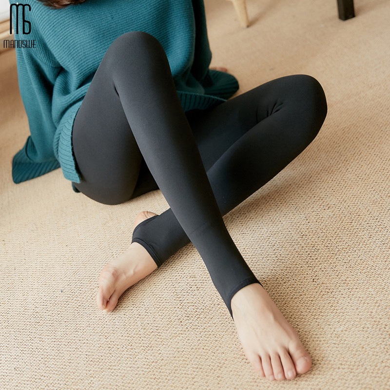 Manoswe Thin Leggings Woman Spring Autumn Fashion Black Leggings Elastic Workout Fitness Pants 2019 High Waist Casual Trousers