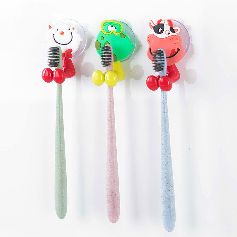 1pcs Wall Mounted Heavy Duty Suction Cup Antibacterial Toothbrush Holder Hanger Toothpaste Suction Cup Holder