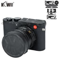 Kiwifotos Anti-Scratch Camera Body Cover Protector Film For Leica Q2 Mirrorless Camera Skin Shadow Black Camouflage 3M Sticker
