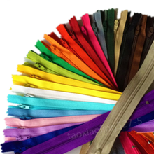 10pcs 3 #10 cm/15 centímetros/18cm/20cm/25cm/30cm/35cm/40cm/50cm/55cm/60cm Nylon Bobina Zippers Alfaiate artesanato de esgoto crafter (20 cores)