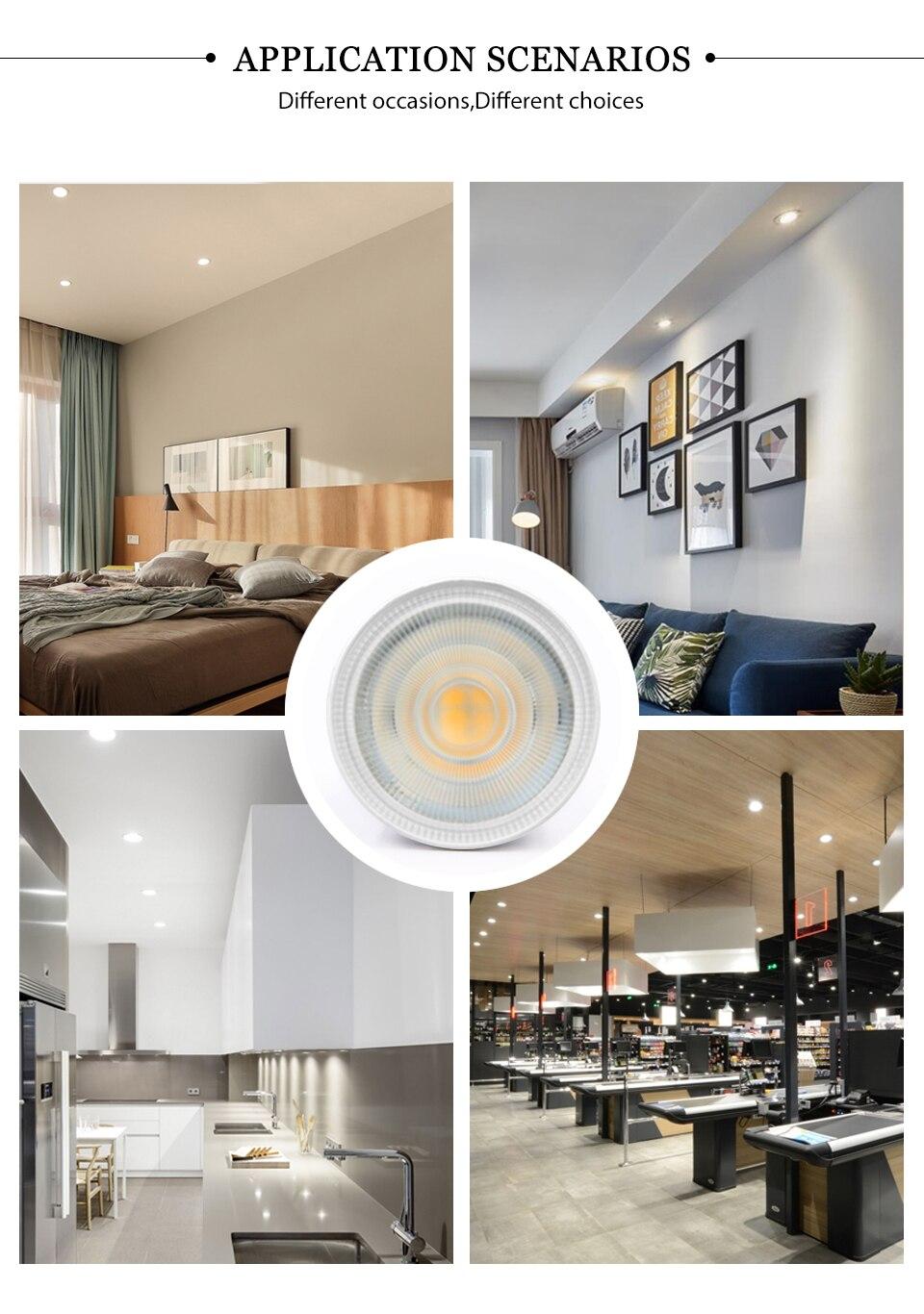 Hf5123c2be0ca4501a26321eec57444eeN - KARWEN Lampada LED Lamp 6W GU10 GU5.3 MR16 E27 E14 LED Bulb 220V Bombillas LED Spotlight Lampara Spot Light for living room