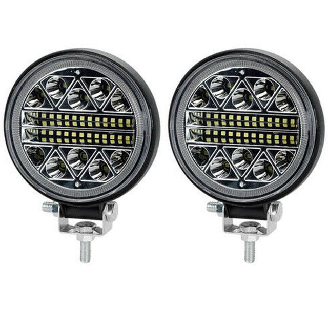 2PCS 102WLED Work Light LED Car Front Fog Light 12V 24V For Truck SUV 4X4 4WD Engineering Headlights Off-road LED Round Headlamp