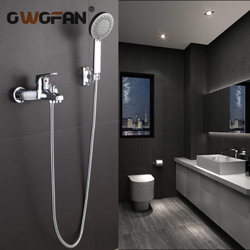 Robinet de salle de bain robinets de douche système de douche montage mural robinets de tête de douche détendus mélangeur d'eau chaude et froide matériel de salle de bain 8043